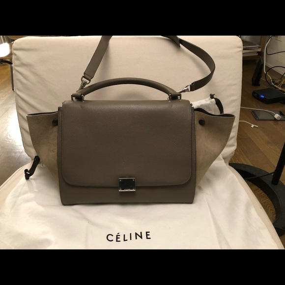 Celine Bags   95 New Cline Trapeze Bag Medium Grey   Poshmark 8ca438bef5
